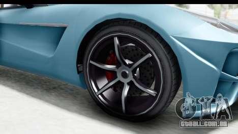 GTA 5 Dewbauchee Seven 70 with Mip Map para GTA San Andreas vista traseira