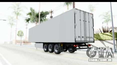 Trailer ETS2 v2 Old Skin 1 para GTA San Andreas esquerda vista