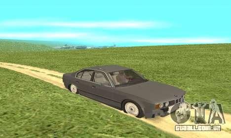 BMW 535i para GTA San Andreas vista traseira