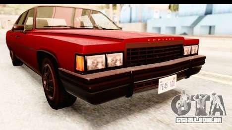 GTA 5 Albany Emperor IVF para vista lateral GTA San Andreas