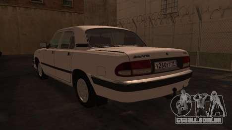 GAZ 3110 da série a Zona de exclusão de Chernoby para GTA San Andreas traseira esquerda vista