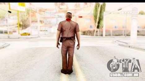 Left 4 Dead 2 - Zombie Policeman para GTA San Andreas terceira tela