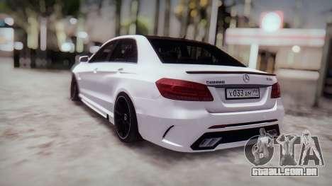 Mercedes-Benz E63 GSC para GTA San Andreas vista traseira