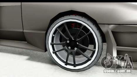 Elegy Sport Type v1 para GTA San Andreas vista traseira