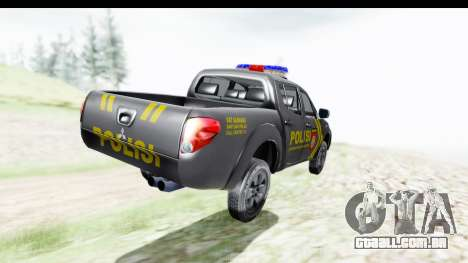 Mitsubishi L200 Indonesian Police para GTA San Andreas esquerda vista