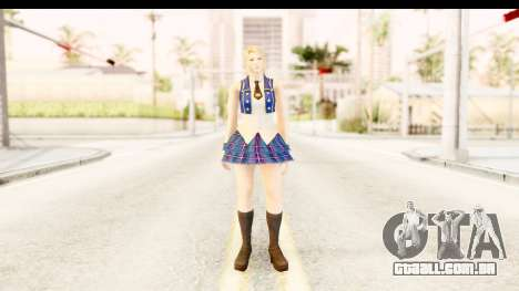 DoA 5 - Sarah Pop Idol para GTA San Andreas segunda tela