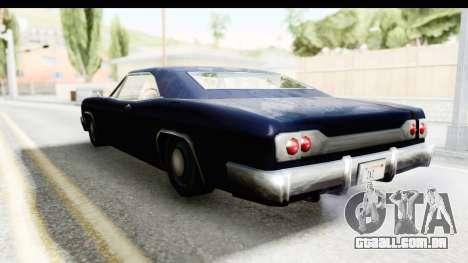 Blade Hardtop para GTA San Andreas traseira esquerda vista