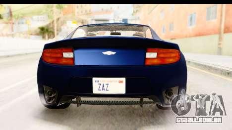 GTA 5 Dewbauchee Rapid GT para GTA San Andreas vista superior