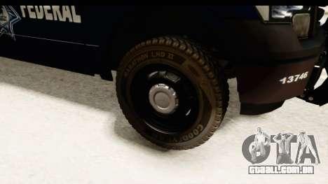 Ford F-150 Federal Police para GTA San Andreas vista traseira