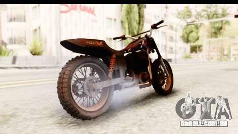 GTA 5 Western Cliffhanger Custom v2 para GTA San Andreas esquerda vista