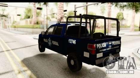 Ford F-150 Federal Police para GTA San Andreas esquerda vista