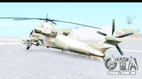 Denel AH-2 Rooivalk para GTA San Andreas esquerda vista