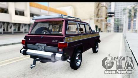 Jeep Grand Wagoneer para GTA San Andreas esquerda vista