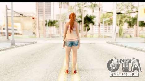 Dead Or Alive 5 - Kasumi Intimate para GTA San Andreas terceira tela