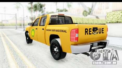 Chevrolet Silvedaro Basarnas para GTA San Andreas esquerda vista