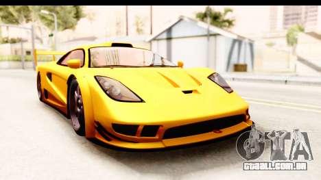GTA 5 Progen Tyrus SA Style para GTA San Andreas esquerda vista