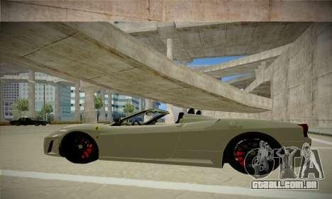 Ferrari F430 Spider para GTA San Andreas esquerda vista