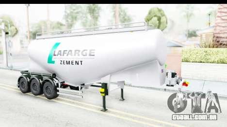 Trailer Zement para GTA San Andreas vista direita