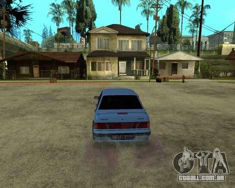 VAZ 21015 ARMENIAN para GTA San Andreas vista traseira