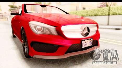 Mercedes-Benz CLA45 AMG 2014 para vista lateral GTA San Andreas