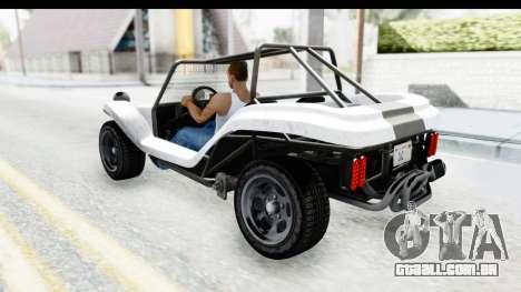 GTA 5 BF Bifta v2 SA Style para GTA San Andreas vista interior