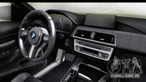 BMW M3 F30 Hulk para GTA San Andreas vista interior