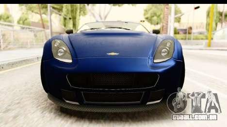 GTA 5 Dewbauchee Rapid GT para GTA San Andreas vista interior