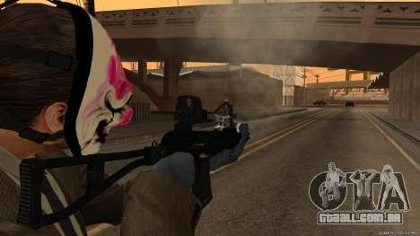 Como-VAL Payday 2 para GTA San Andreas terceira tela