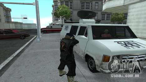 Newsvan Follow You para GTA San Andreas por diante tela