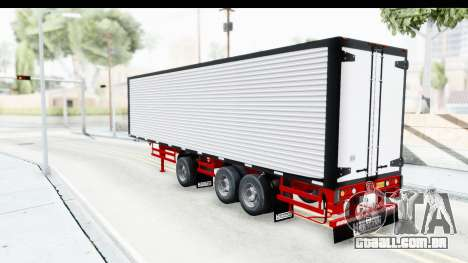 Trailer with Axle para GTA San Andreas traseira esquerda vista