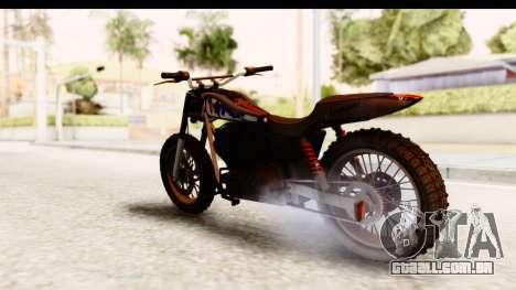 GTA 5 Western Cliffhanger Custom v2 para GTA San Andreas traseira esquerda vista