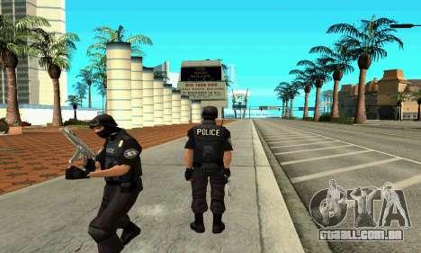 NextGen mudou a pele original SWAT para GTA San Andreas segunda tela