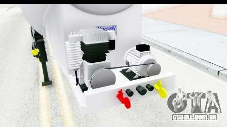 Trailer Zement para GTA San Andreas vista interior