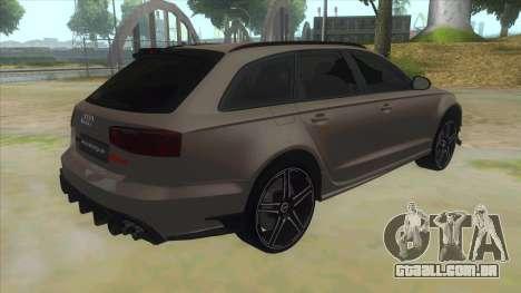 Audi RS6-R para GTA San Andreas vista direita