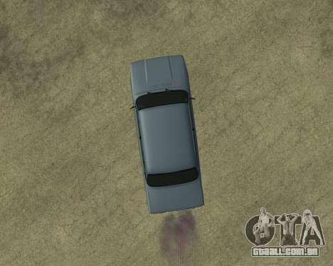 VAZ 2107 Armenian para GTA San Andreas vista superior
