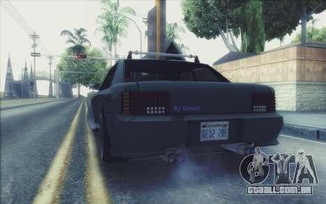 New Stance Sultan para GTA San Andreas traseira esquerda vista