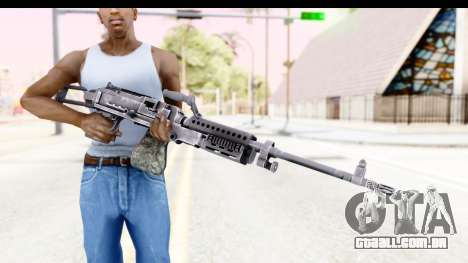 M240 FSK No Attachments para GTA San Andreas terceira tela