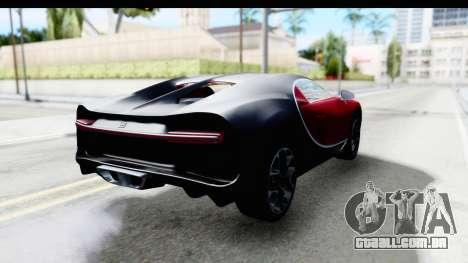 Bugatti Chiron 2017 v2 para GTA San Andreas traseira esquerda vista