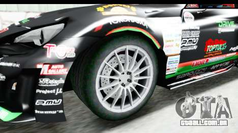 D1GP Toyota 86 2015 DRIVE para GTA San Andreas vista traseira