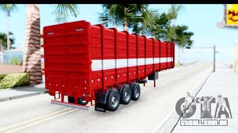 Trailer Cargo para GTA San Andreas traseira esquerda vista