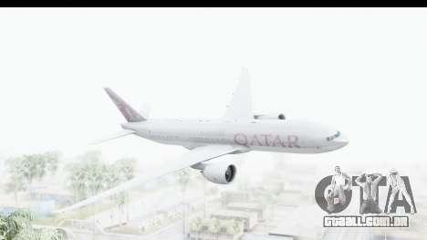 Boeing 777-200LR Qatar Airways para GTA San Andreas