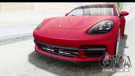 Porsche Panamera 4S 2017 v2 para vista lateral GTA San Andreas