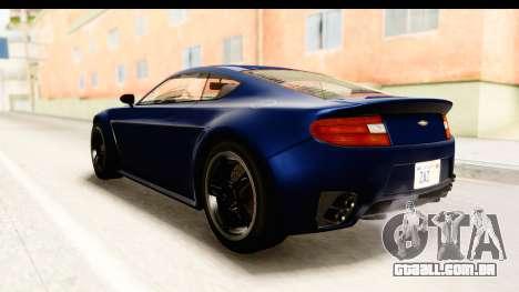 GTA 5 Dewbauchee Rapid GT para GTA San Andreas esquerda vista