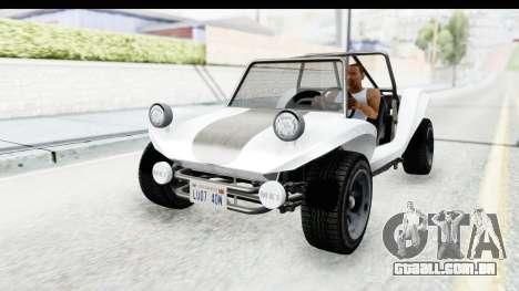 GTA 5 BF Bifta v2 SA Style para GTA San Andreas vista traseira