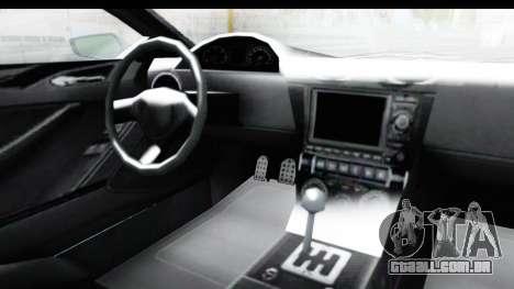 GTA 5 Dewbauchee Seven 70 with Mip Map para GTA San Andreas vista interior