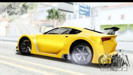 GTA 5 Emperor ETR1 v2 SA Lights para GTA San Andreas esquerda vista