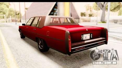 GTA 5 Albany Emperor IVF para GTA San Andreas esquerda vista