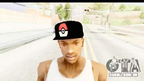 Cap Pokemon Pokeball para GTA San Andreas terceira tela