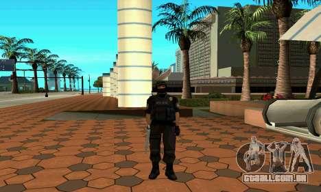 NextGen mudou a pele original SWAT para GTA San Andreas quinto tela