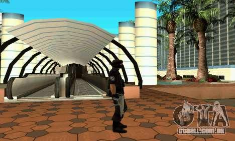 NextGen mudou a pele original SWAT para GTA San Andreas por diante tela